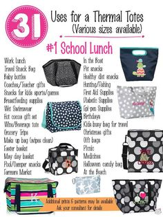 31 Uses for Thirty-One Thermals! #Carrie31Bags