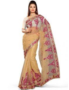 Sensual Beige Saree Item code : SUTI135  http://www.bharatplaza.com/new-arrivals/sarees/sensual-beige-saree-suti135.html