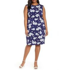 Eliza J Dresses, Plus Size Dresses, Office Dresses, Dresses For Work, Faux Wrap Dress, Nordstrom Dresses, Fit Flare Dress, Women's Fashion Dresses, Sheath Dress