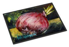 Vegetables - Onion One-Yun Indoor or Outdoor Mat 18x27 Doormat