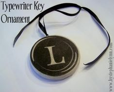 Under The Table and Dreaming: Typewriter Key Transfer Ornament {No.8}