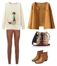 """"""":)"""" by lea-vehabovic ❤ liked on Polyvore featuring Warehouse and Tamara Mellon"""