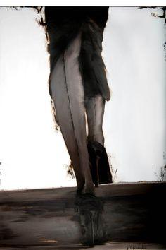 """Janel Eleftherakis; Oil, 2013, Painting """"Sepia Series #5"""""""