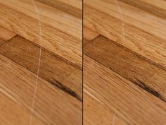 Take scratches out of your hardwood floors with walnuts!! Soooo easy!