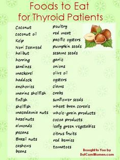 Food to eat for thyroid patients