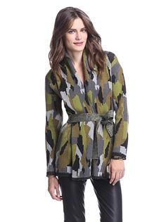 70% OFF Torn by Ronny Kobo Women's Charlotte Camo Cardigan