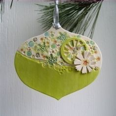 green retro ornament