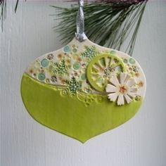green retro ornament
