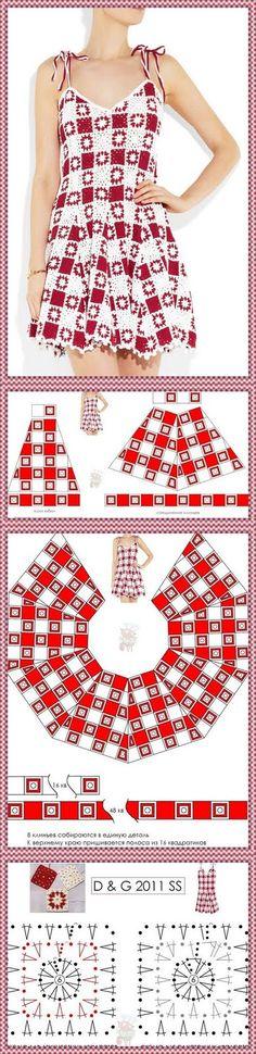 Dy Crochê!: Esse vestido tbm encontrei no blog www.meumundocraft.com!
