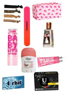 """Emergency kit for school"" by catwalk87 ❤ liked on Polyvore"