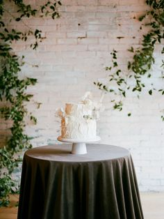 Lace Wedding Cakes Lunaria is the shimmery dried flower everyone is talking about, and this organic wedding inspiration is full of it! Textured Wedding Cakes, Metallic Wedding Cakes, Small Wedding Cakes, Wedding Cakes With Flowers, Wedding Cake Designs, Lace Wedding, Wedding Reception Planning, Fresh Flower Cake, Cake Shapes