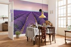 Provence photo wallpaper with a lavender motif is a unique decoration which will impart a character and serene atmosphere to your house.