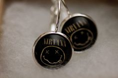 Nirvana Glass Earrings Nirvana Photo by HConwayPhotography on Etsy, $11.00