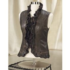 Bronzed Faux Leather Vest - Women's Clothing, Jewelry, Fashion Accessories and Gifts for Women with a Flair of the Outdoors | NorthStyle