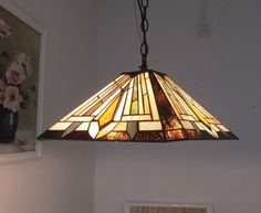 Chloe Lighting Tiffany Style 2 Light Hanging Pendant Lamp CH38880GM16-DH2 #ChloeLighting #StainedGlass