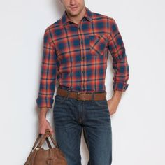 Roots shirts fit me really well and are well made.  Budman Plaid Shirt