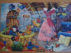 Vintage 1950s original Walt Disney jigsaw puzzle by willynillyart, $10.00