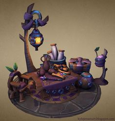 Kyle Jensen - Mage's workplace. 3d low-poly