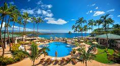 Upgraded pool furnishings at the Four Seasons Lanai at Manele Bay #Hawaii #honeymoon #travel #hotels