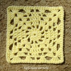 Crochet pattern - granny square