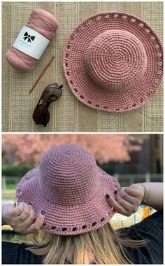 Crochet Sun Hat PATTERN (only) - Fun in the Sun Hat. etsy find summer Crochet Headbands, Crocheted Hats, Lettuce Salads, Yarn Crafts, Diy Crafts, My Themes, Sun Hats, Crochet Ideas, Crocheting