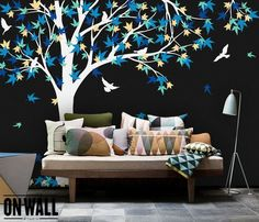 Large Maple Tree vinyl decal - 45+ Beautiful Wall Decals Ideas