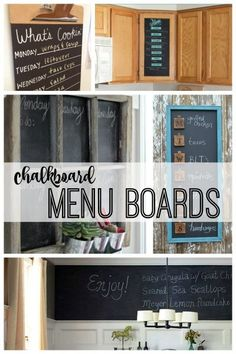 Check out this roundup of creative chalkboard menu boards featured on remodelaholic.com. Perfect to organize your weekly meals!