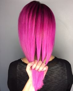 Think pink 'Chocolate Cherry' melting into 'Bunny' #UnicornHair by @elissawolfe.