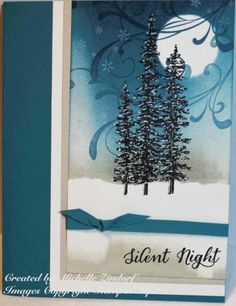 Silent Night Wonderland – Stampin' Up! Card