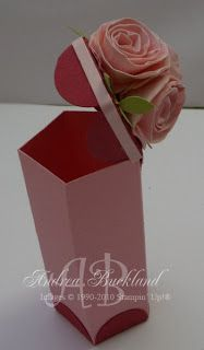 Tube Box with Fancy Flower Punch tutorial to make this, really easy