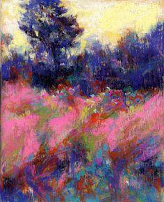 PINK FIELDS - pastel ©Susan E. Roden