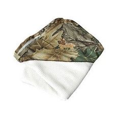 White Thermal Blanket with Mossy Oak Camo Corner & Daddy's Baby Emblem