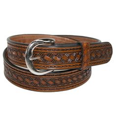 Embossed with a western print, this popular belt is great for casual wear.