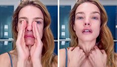 A Japanese Facial Massage That Can Rid You of Swelling and Wrinkles in 5 Minutes a Day (Famous Supermodels Swear by It) Massage Facial Japonais, Facial Massage, Natalia Vodianova, Daily Face Care Routine, Famous Supermodels, Japanese Massage, Les Rides, Tips Belleza, Ingrown Hair