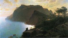 William Stanley Haseltine (William Stanley Haseltine) (1835-1900) The Sea from Capri Oil on canvas 1875