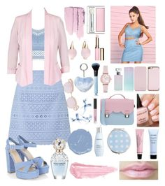"""Light Serenity Rose"" by darkrosestyle ❤ liked on Polyvore featuring Lipsy, City Chic, La Cartella, Ted Baker, Calvin Klein, Emporio Armani, Givenchy, Miss Selfridge, Clinique and Clarins"