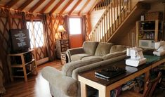 Yurt forum, an online yurt community and forum about yurts. Discuss building, buying, and living in yurts. Check out the yurts for sale! Yurt Living, Tiny Living, Living Spaces, Living Room, Yurt Interior, Interior Design, Yurts For Sale, Yurt Home, Modern Tiny House