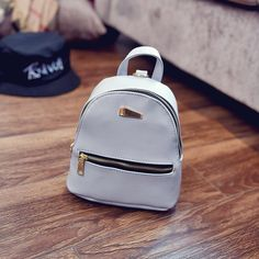 40570adc9529 Mini Backpack PU Leather School Travel Bags College Style