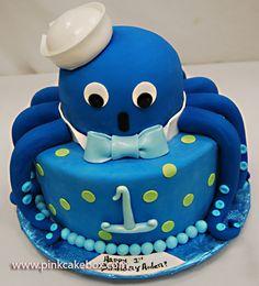 Octopus 1st Birthday Cake