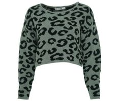 Amazon.com: Kensie Girl Juniors Animal Print Cropped Pullover Sweater: Clothing