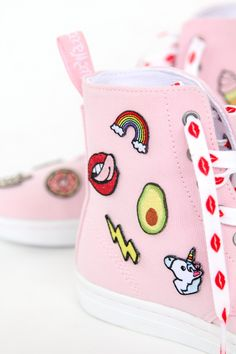 DIY Patch Patterned Sneakers