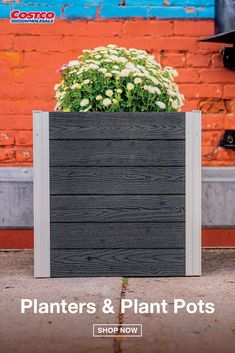 "Add some character and curb appeal with these functional planters. Simple to build and maintain, these cube planters ensure an effortless gardening experience. Assembly can be completed quickly, with minimal tools and effort. Grow beautiful seasonal flowers, ferns and more, all from your porch. Find the Vita Urbana 22"" Cube Planter, 2-pack, at Costco.com."