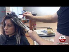 Como hacer unas Mechas Balayage sobre cabello Teñido - Profesional - YouTube