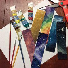DIY watercolor bookmarks | OOAK Art by FaerytalesandFantasy.