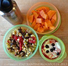 Stattkantine 18. Juni 2013 - Ofengemüse-Salat, Honigmelone, Joghurt mit Amarena