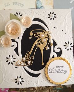 Diesire create a card. Tattered lace shoe