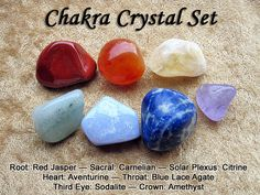 Crystal Healing Chakra Set  Red Jasper, Carnelian, Citrine, Aventurine, Blue Lace Agate, Sodalite, Amethyst.  by dragonfaecreations, $15.00