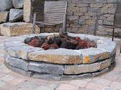 Resultado de imagen para stone fire pit