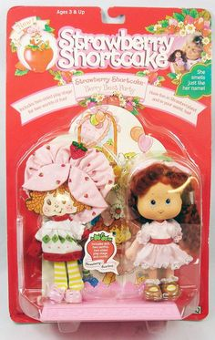 Strawberry Shortcake Doll, Toot, Age 3, Best Part Of Me, Vintage Toys, Packaging Design, Berries, Teddy Bear, Dolls