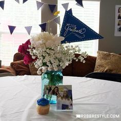75 Graduation Party Ideas Your Grad Will Love & graduation table centerpieces | Graduation Centerpieces and Party ...